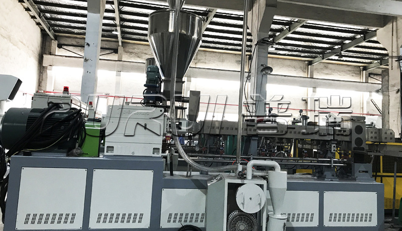 pet bottle flakes twin screw pelletizing line.jpg