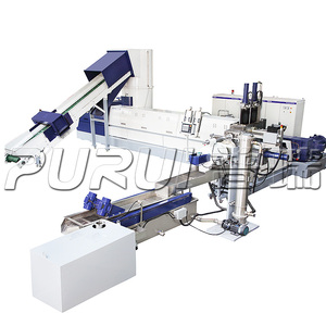 DOUBLE STAGE EXTRUDER FOR PLASTIC RECYCLING