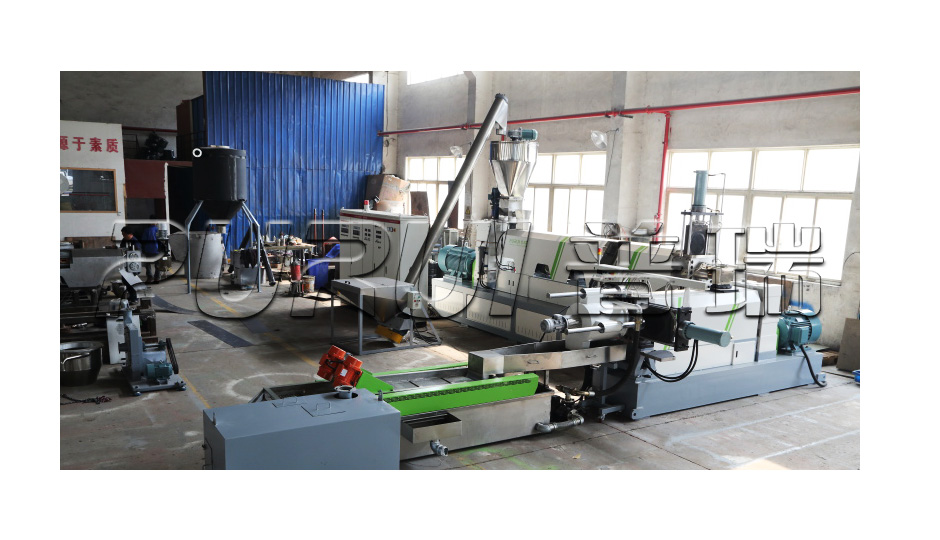 crushed plastic flakes pelletizing machine.jpg