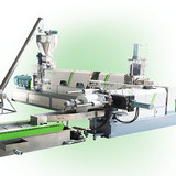 Rigid flakes granulating machine